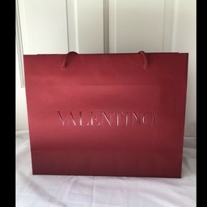 "Valentino Reusable Paper Shopping Bag Gift 13""x16"""